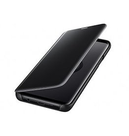 Samsung Samsung Clear View Standing Cover Case Black Galaxy S9+ - 120-0298