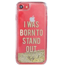 Caseco Caseco| iPhone 8/7/6/6s Liquid Glitter Case ''I Was Born To Stand Out'' | WXLG-iP7-SND