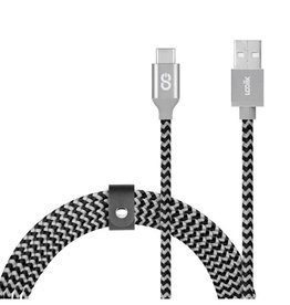 Logiix SO LOGiiX Piston Connect Braid 1.5M USB-A to USB-C - Grey/Black LGX-12659