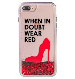 Caseco Caseco| iPhone 8/7/6/6s+ Liquid Glitter Case ''When in Doubt Wear Red'' | WXLG-iP7P-WRD