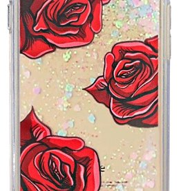 Caseco Caseco| iPhone 8/7/6/6s+ Liquid Glitter Case ''Roses'' | WXLG-iP7P-ROS