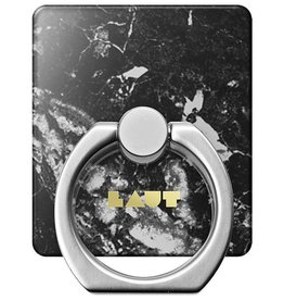 Laut Laut | Ring Grip for All Mobile Devices | Marble Black | LAUT_RG_HXE_MB