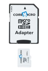 //// COREMICRO 128 GB MICROSD CARD WITH SD ADAPTER