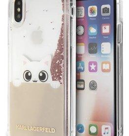 /// Karl Lagerfeld   iPhone X Peek a Boo TPU Case Glitter Pink   KLHCPXPABGNU