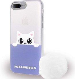 /// Karl Lagerfeld   iPhone 8/7/6/6s+ Peek A Boo TPU Case Glitter Blue