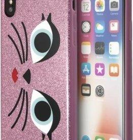 /// Karl Lagerfeld  iPhone X Paris TPU Case Glam Choupette Glitter Pink   KLHCPXGLCHPI