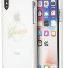 /// Guess   IPhone X Transparent Thermoplastic Polyurethane Phone Case (Shockproof Collection)   GUHCPXSHPI
