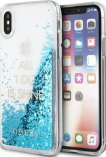 /// Guess | IPhone X Glitter Blue Hard Phone Case (Glitter Collection) | GUHCPXGLUQBL