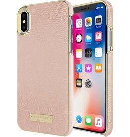 KSNY (Kate Spade New York) Kate Spade New York | Wrap Case iPhone X Saffiano Rose Gold/Gold Logo | KSIPH-081-SRG-FR