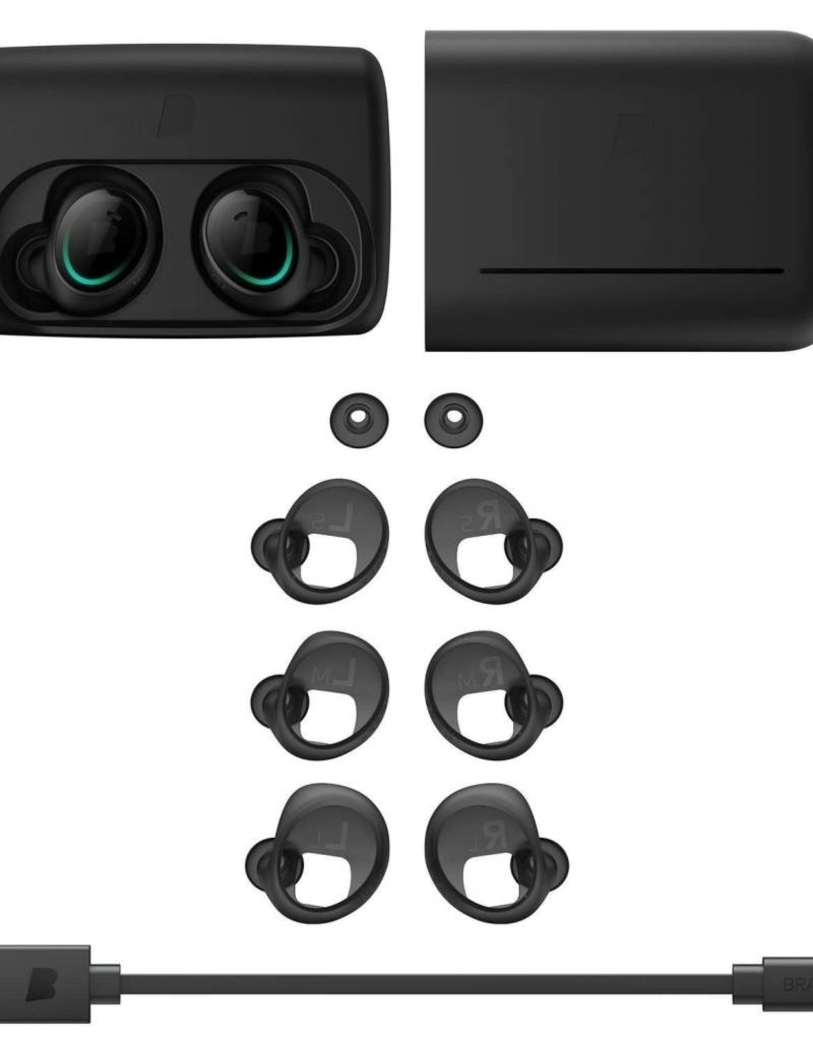 Bragi | The Dash Truly Wireless Smart Earphones with Leash (Black) | B521330101