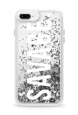 Casetify /// Casetify   iPhone 8/7/6/6s+ Glitter Case Savage (Silver)   120-0995