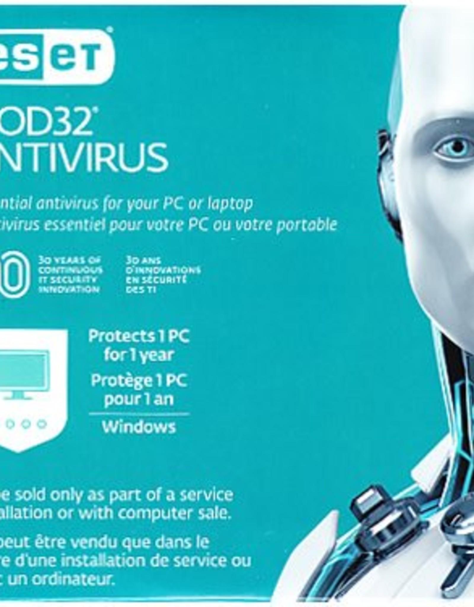 ESET   NOD32 AntiVirus OEM V10 1 User 1 Year Sleeve   467372