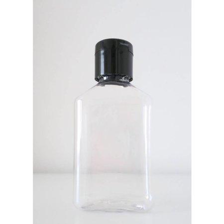 20 bouteilles carrées bouchon noir 100 ml