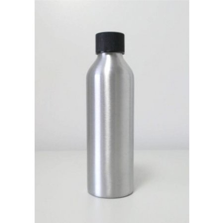 10 aluminium bottles with black cap 150 ml