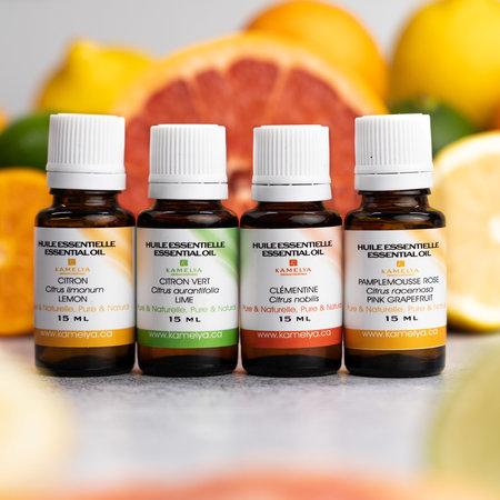 Ensemble d'huiles essentielles énergisantes