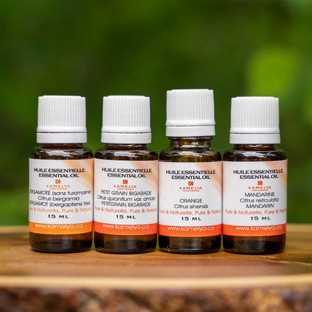 Ensemble d'huiles essentielles relaxantes