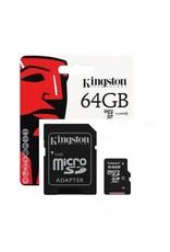 Carte Kingston MicroSD 64Go + Adaptateur