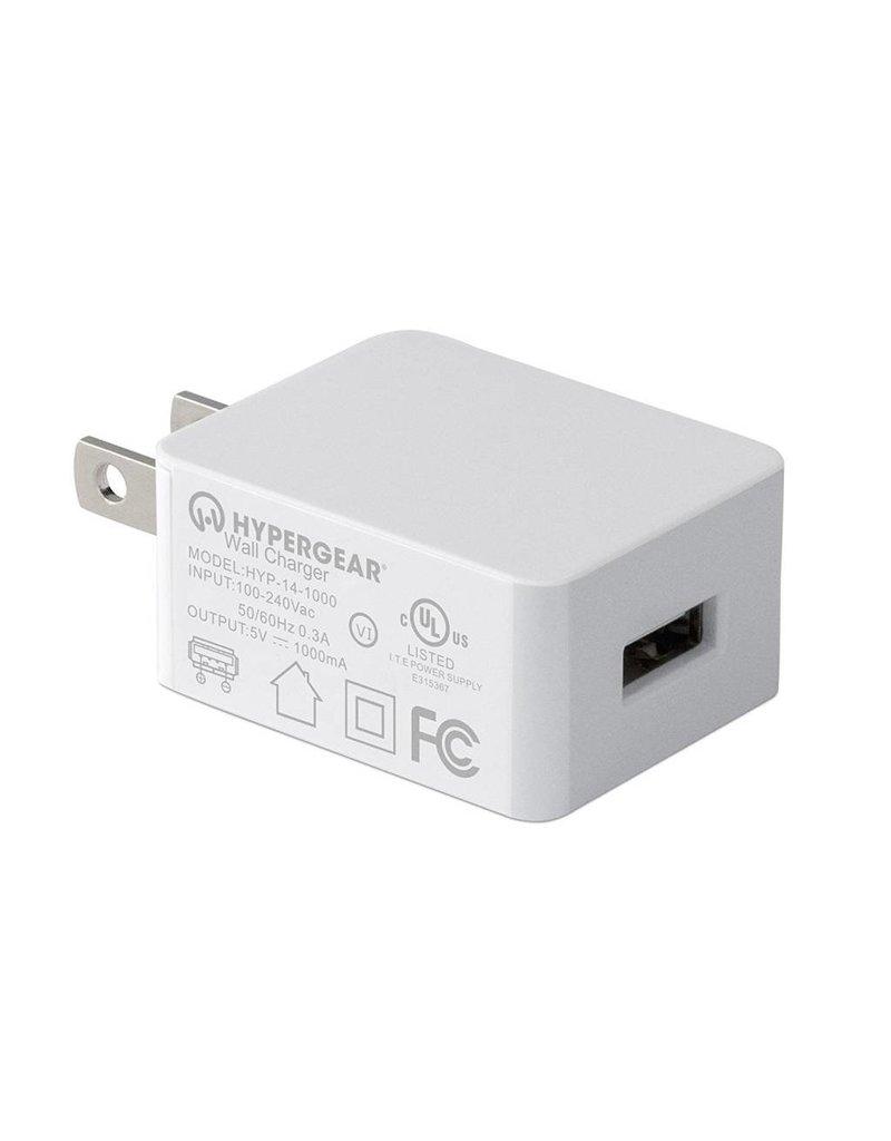 Hypergear HyperGear Bloc Chargeur Mural 1A Blanc - Sans emballage