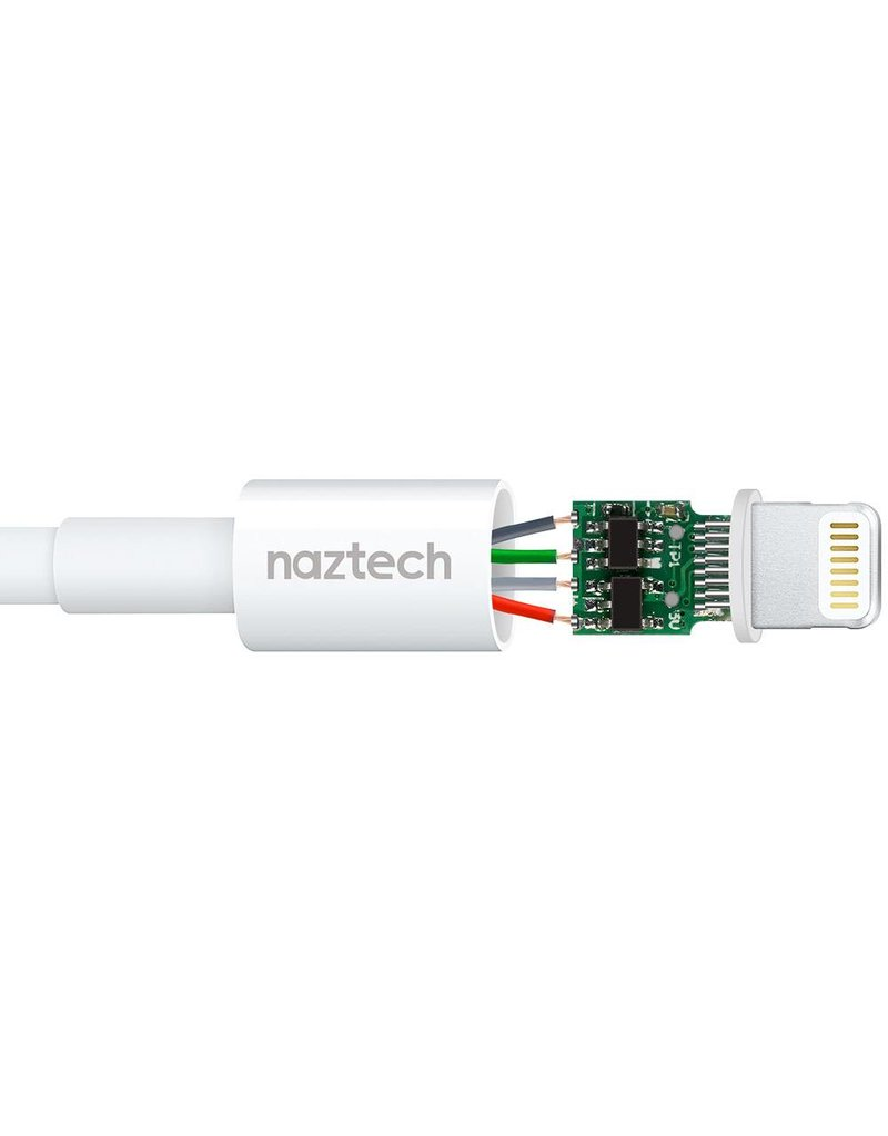 Naztech NAZTECH - Câble Robuste MFI iPhone Lightning Tressé 4 pieds - Garantie à vie - Canada