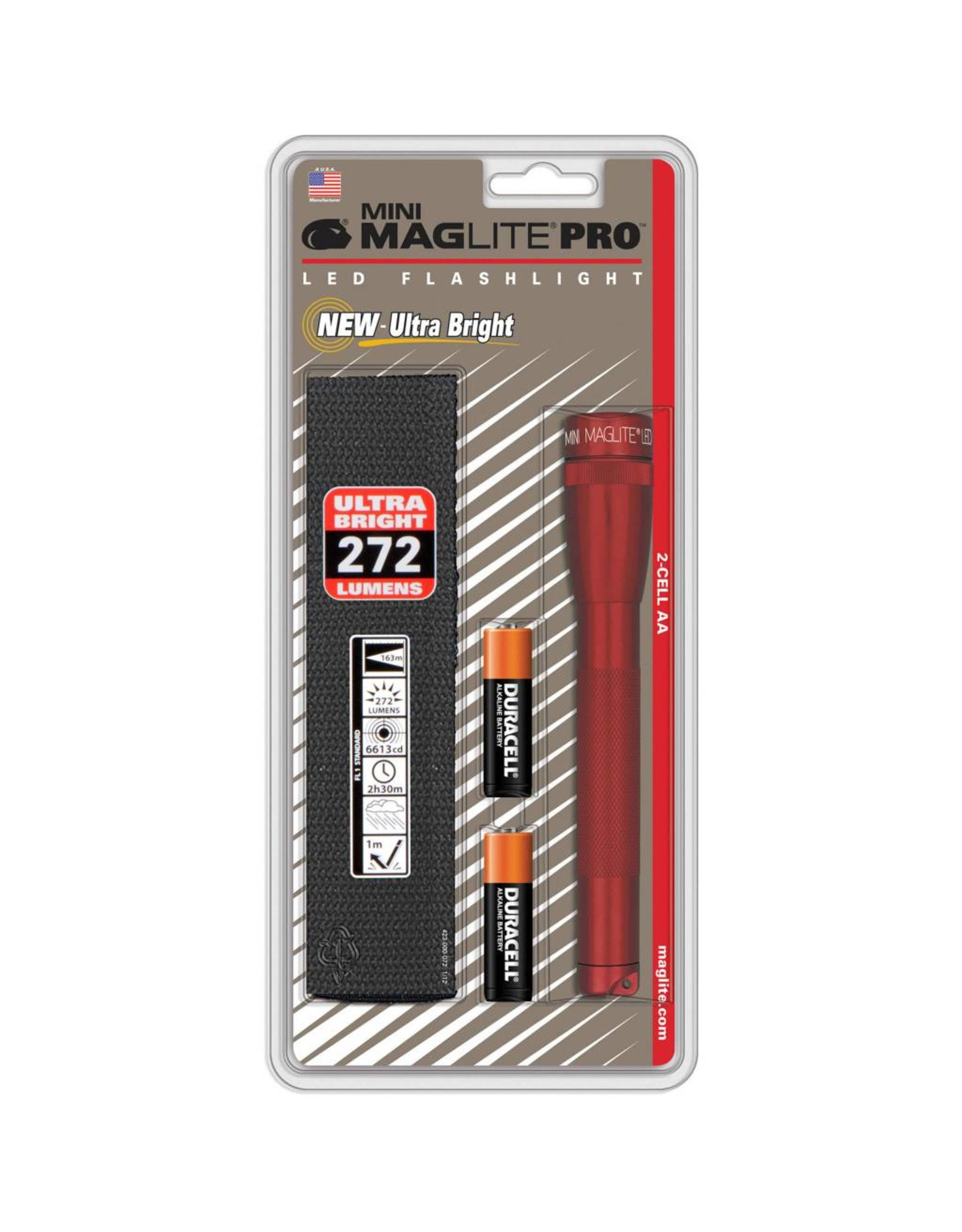 Mini Maglite Pro, 2-cell AA, Red