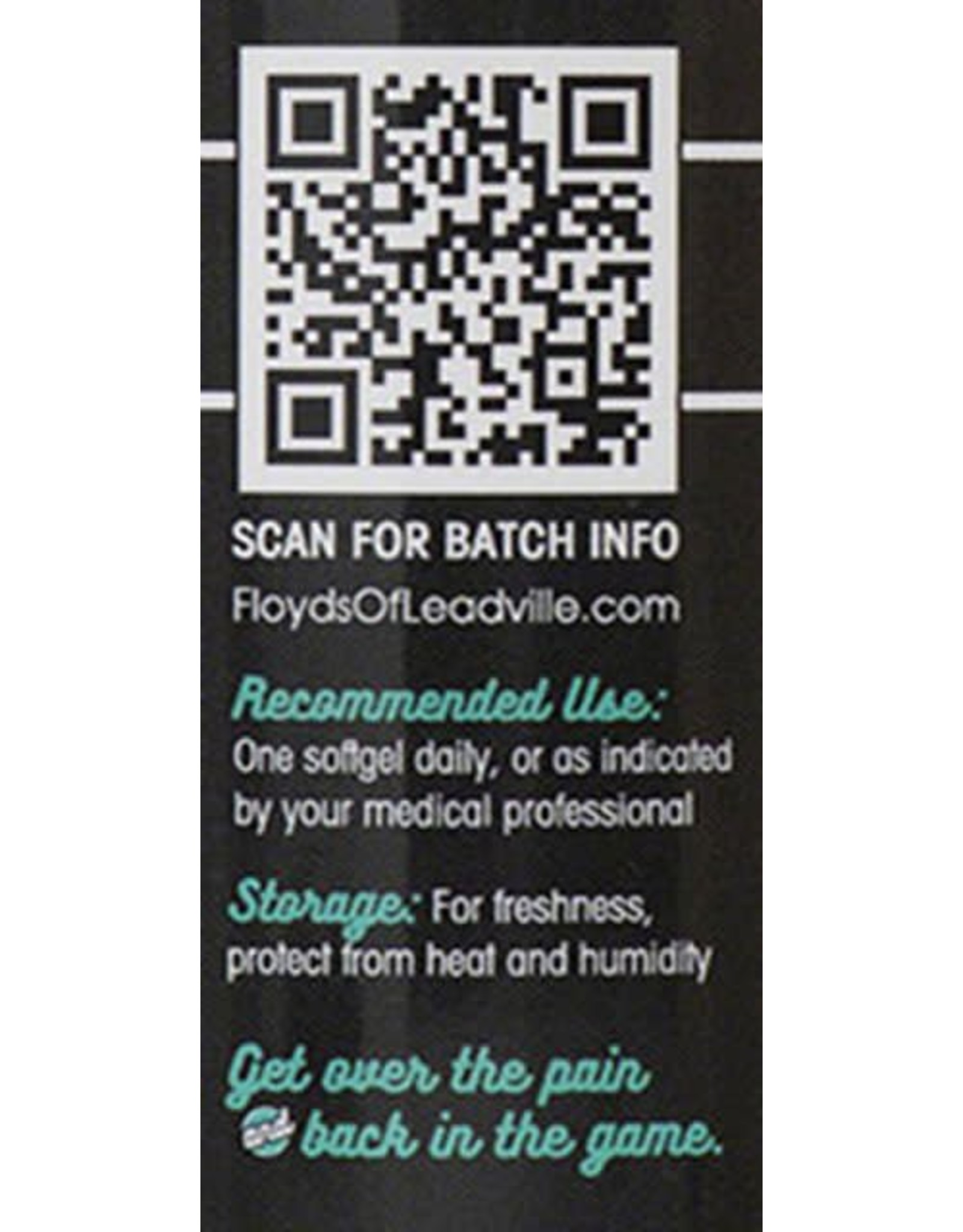 Floyd's of Leadville Floyd's of Leadville CBD Softgel: Full Spectrum, 50mg, Qty 30