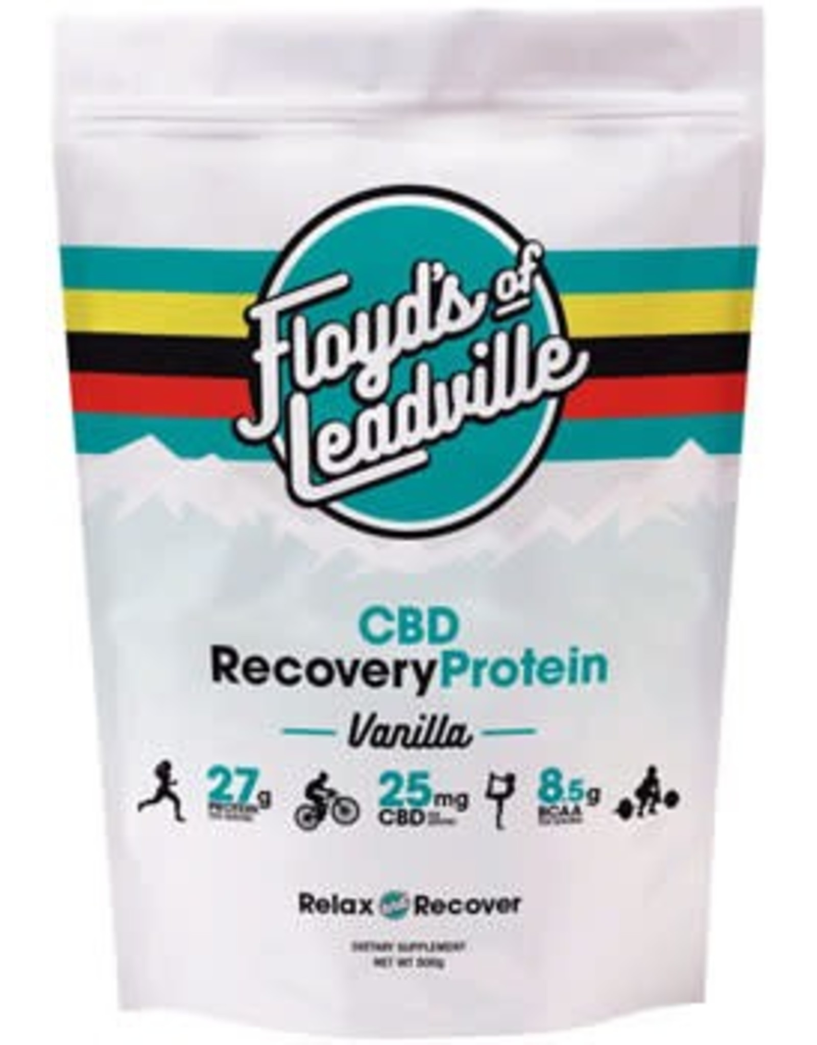 Floyd's of Leadville Floyd's of Leadville CBD Recovery Protein Powder: Isolate (THC Free) 250mg ,Vanilla