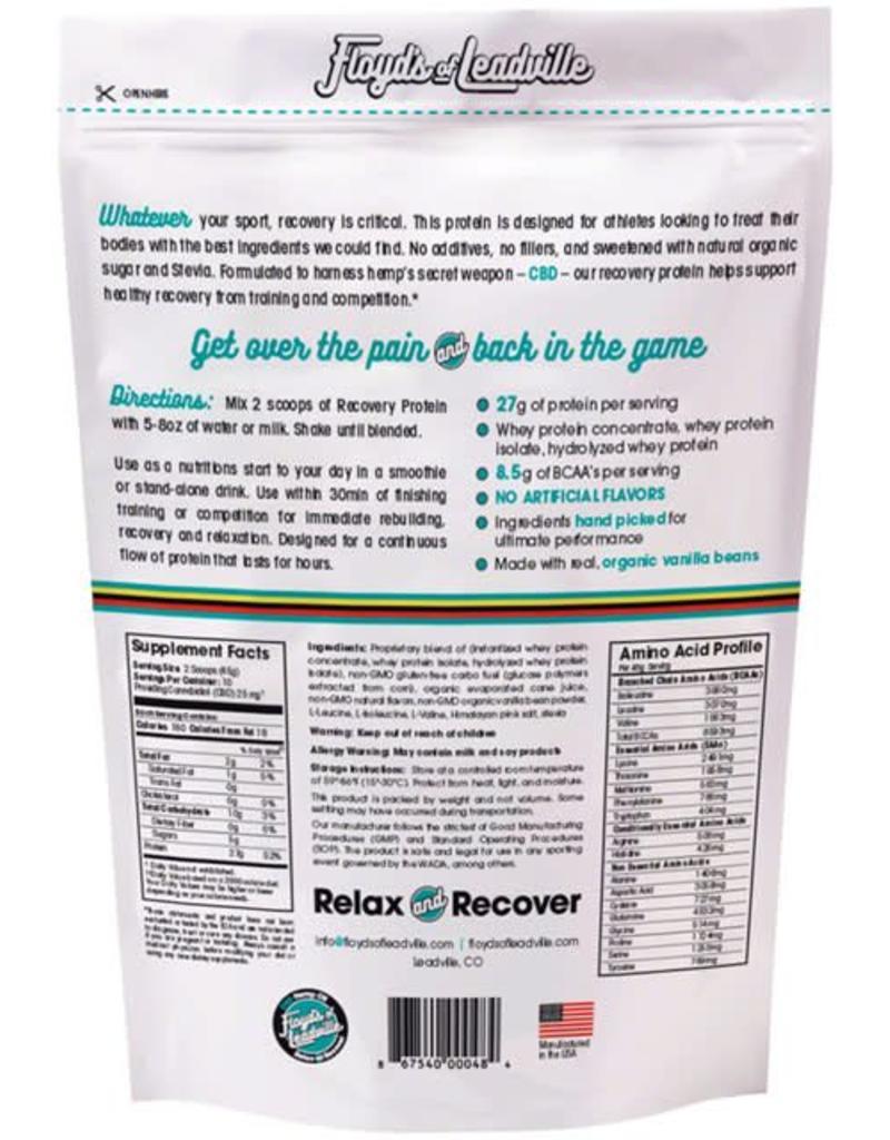Floyd's of Leadville Floyd's of Leadville CBD Recovery Protein Powder: Isolate (THC Free) 250mg ,Vanilla