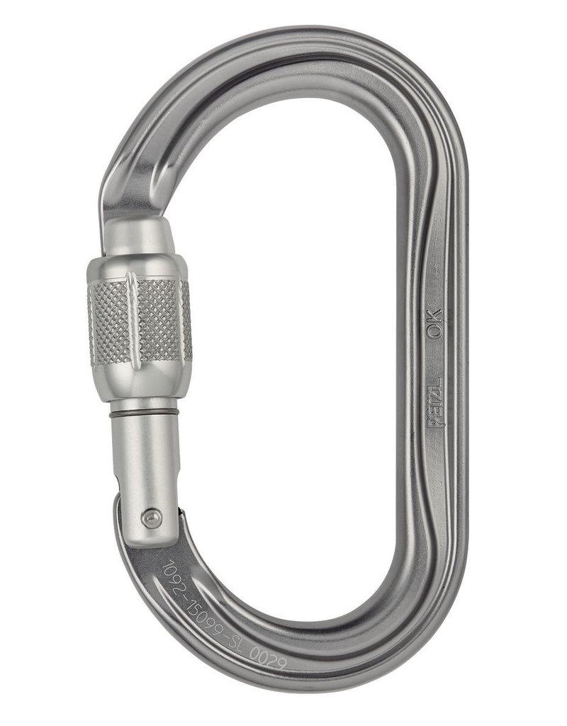Petzl OK H-frame carabiner, oval, SCREW-LOCK
