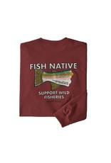 Patagonia Patagonia Men's Long-Sleeved Fish Native World Trout Responsibili-Tee