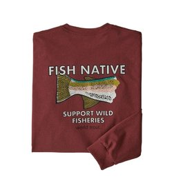 Patagonia Patagonia M's L/S Fish Native World Trout Responsibili-Tee