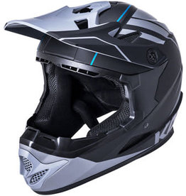 Kali Protectives Zoka Youth Full-Face Helmet - Black/Gray, Youth, Large