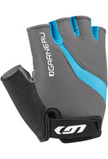 Garneau Biogel RX-V Gloves - Charcoal/Blue, Short Finger, Women's, Medium