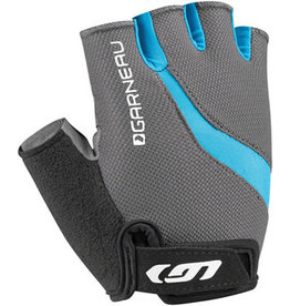 Garneau Biogel RX-V Gloves - Charcoal/Blue, Short Finger, Women's, Medium