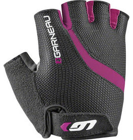 Garneau Biogel RX-V Gloves - Black/Fuscia Festival Pink, Short Finger, Women's, Medium