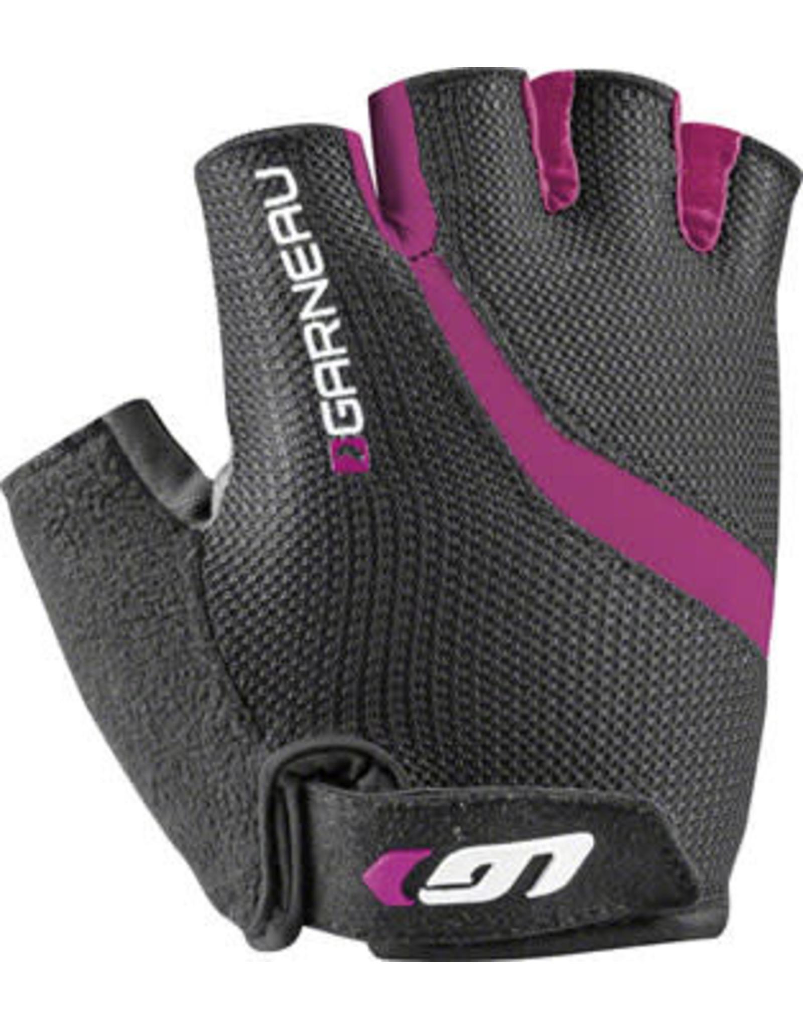 Garneau Biogel RX-V Gloves - Black/Fuscia Festival Pink, Short Finger, Women's, Small