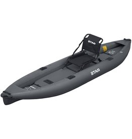 STAR Inflatables STAR Pike Inflatable Fishing Kayak Gray