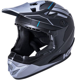 Kali Protectives Zoka Youth Full-Face Helmet - Black/Gray, Youth, Medium