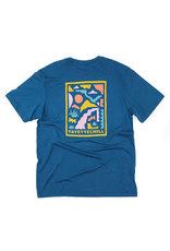 Fayettechill Fayettechill Unisex Tee Abstract Ozarks-Glass Blue