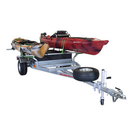 Malone MegaSport Trailer 2 Boat w/ Storage - Saddle Up Pro