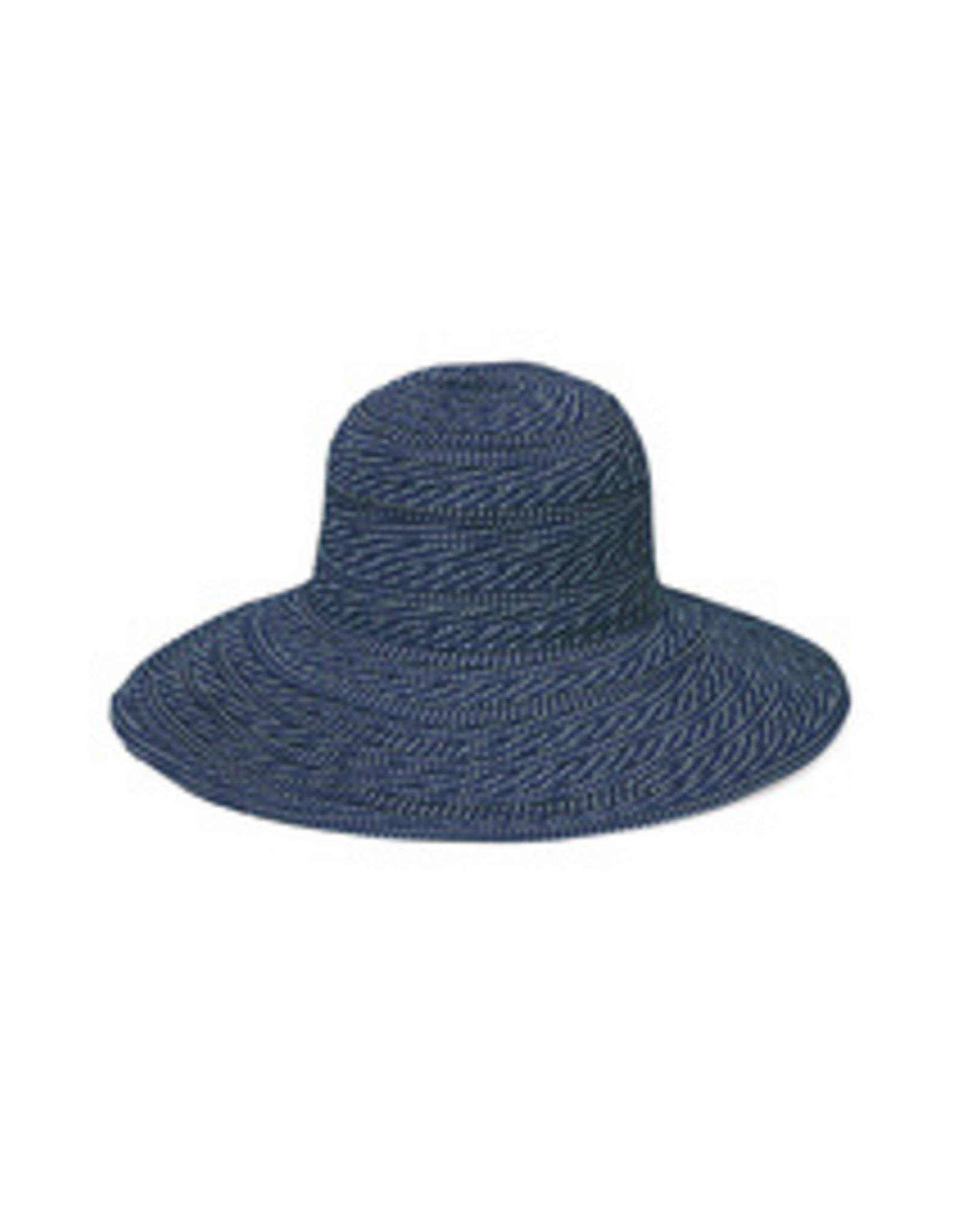 Wallaroo Hat Co Scrunchie Navy/White Dots