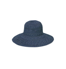 Wallaroo Hat Co Scrunchie Navy/White Dots
