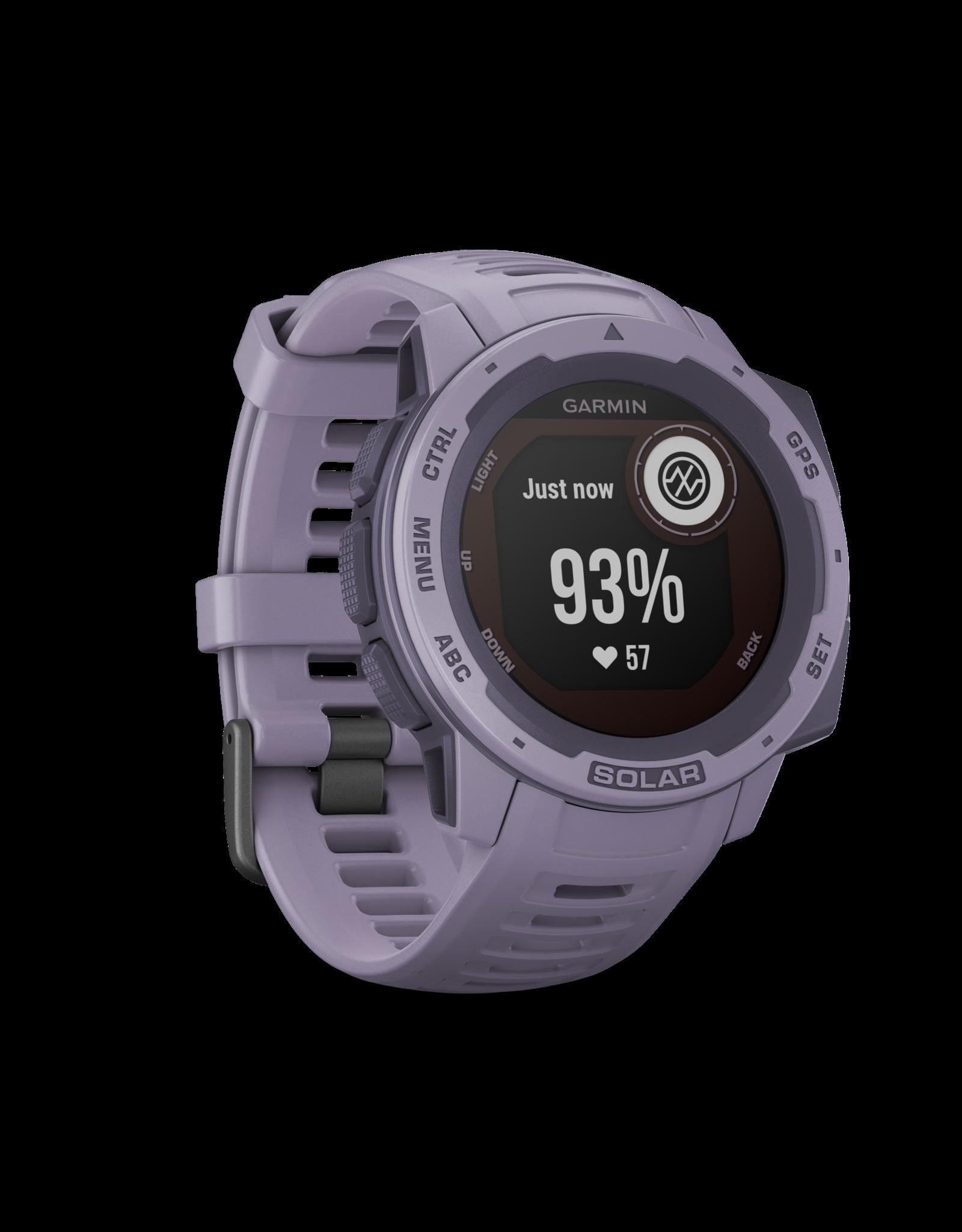 Garmin Instinct Solar, Orchid GPS Watch