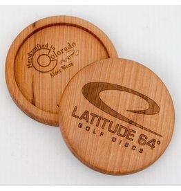 Latitude 64 Wooden Alder Mini Disc Marker