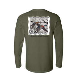 A Southern Lifestyle Co. Southern Lifestyle Duck Stamp L/S Tee - Hemp Color