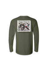 A Southern Lifestyle Co. Southern Lifestyle L/S Tee, Duck Stamp - Hemp Color
