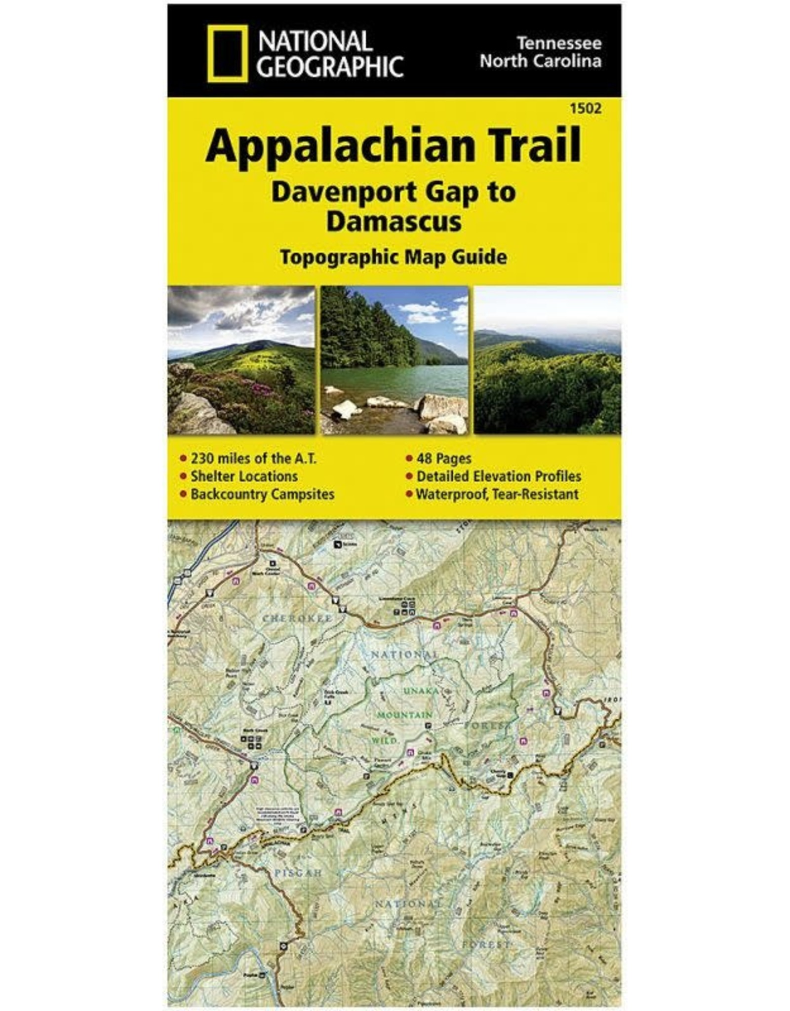 NATIONAL GEOGRAPHIC APP TRAIL- DAMASCUS NC/TN 1502