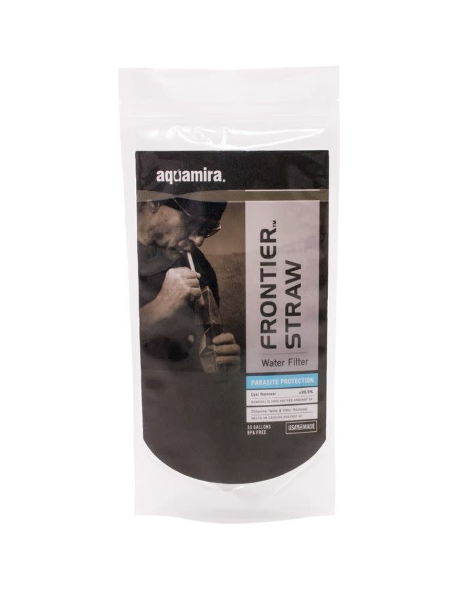 Aquamira Frontier Tactial Straw  Water Filter