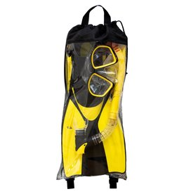 Swimline Thermotech Mesh Bag Snorkeling Set Fin Size (9-11)