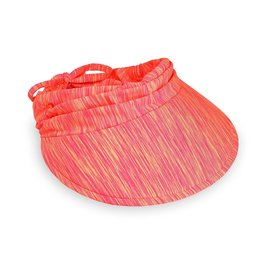Wallaroo Hat Co Wallaroo Women's Aqua Visor Pink/Orange Combo