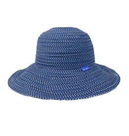 Wallaroo Hat Co Wallaroo Women's Scrunchie Slate Blue/White Dots
